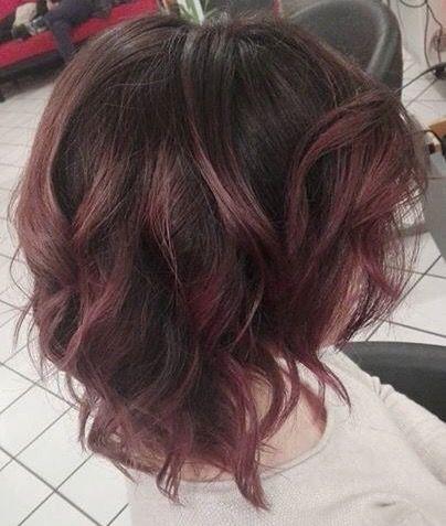 Chocolate Mauve Hair The Ideal Beauty Pinterest