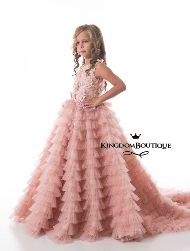 14 best Blush pink flower girl dresses images on Pinterest   Dresses ...