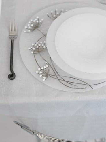 Andretto © Design - Table plates set white murrines - Murano glass