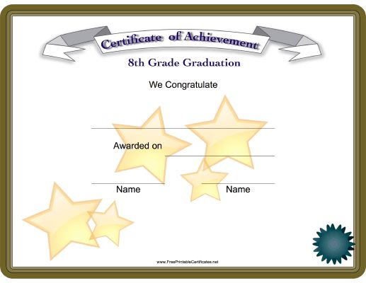 Best 28 employee award images on pinterest design for 6th grade graduation certificate template