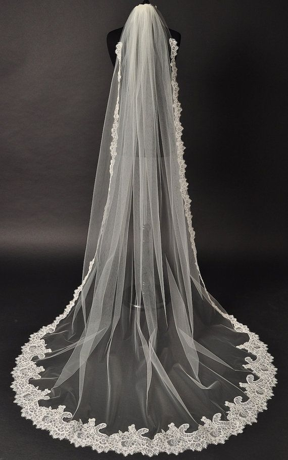 Cathedral Lace Veil Alencon