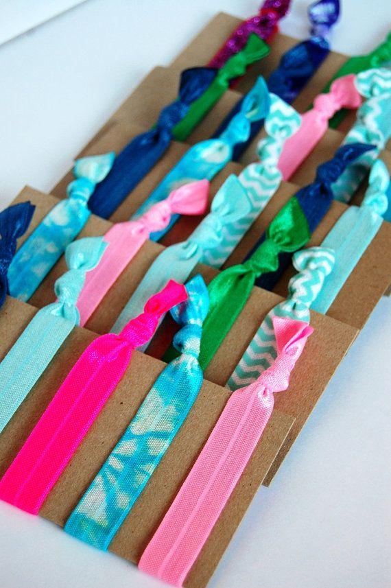 Hair Ties Pony Tail Holders Hair Elastics ... Set by Modern Frills www.modernfrills.etsy.com #hairties #tweengifts #partyfavors