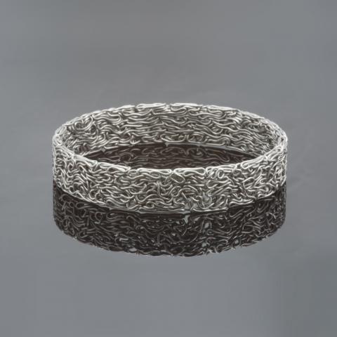 Marc Lange Edelstalen armband 'Pressed'