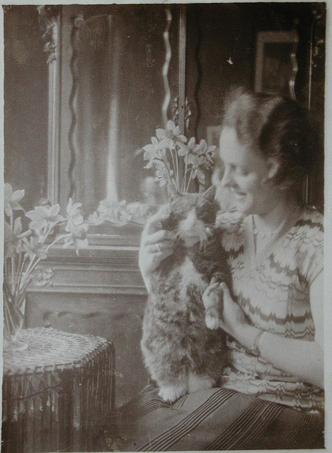 (1920) proof crazy people have been taking silly pictures of their cats since cameras were invented.