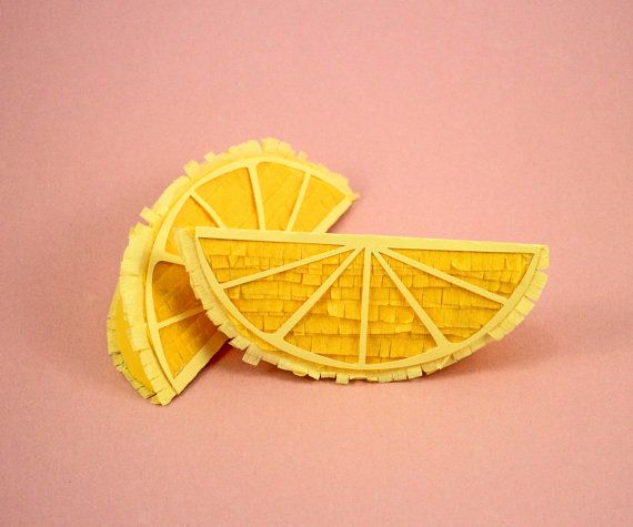 Lemon Wedge Pinata, (1) Lemon Decoration, Tutti Fruity Party, Fruit Party Prop, Fruit Party Pinata, Fruit Theme Party, Listing for 1 Pinata