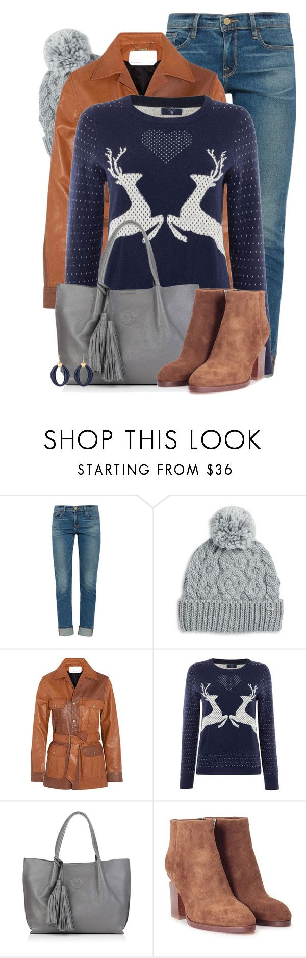 """""""Reindeer Love!"""" by colierollers ❤ liked on Polyvore featuring Frame, Rella, Chloé, GANT, Nadia Minkoff, Alexander Wang and Chico's"""
