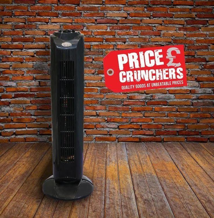"Black Oscillating Air Cooling Tower Fan 120Min Timer Silent Energy Saving 29"" #Highlands #AlternativeHomeEnergy"