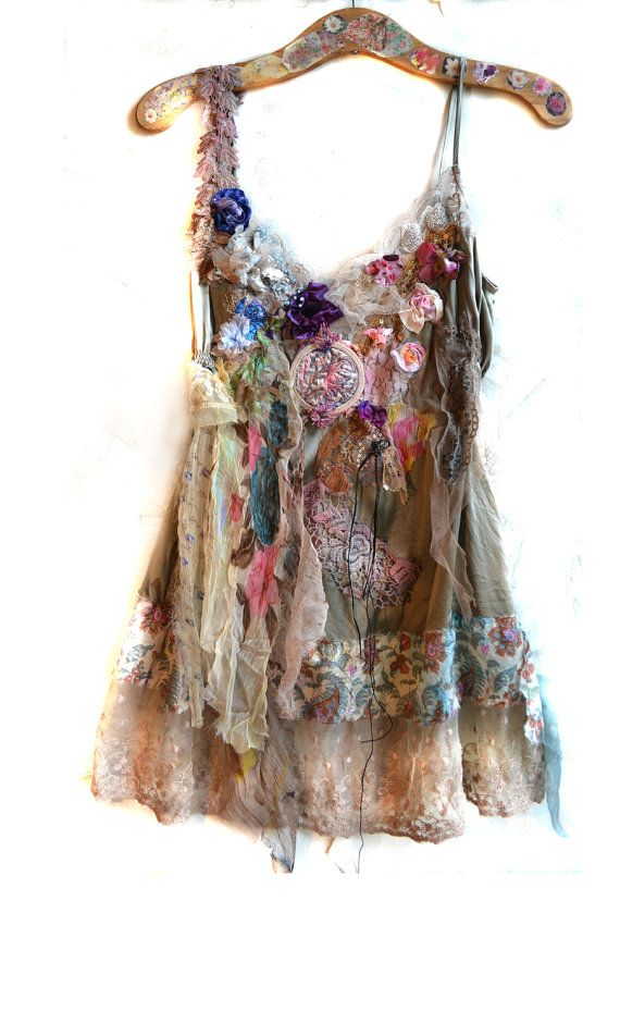 RESERVED For MARGIE Unique Art to Wear Silk Top by Paulina722, $430.00