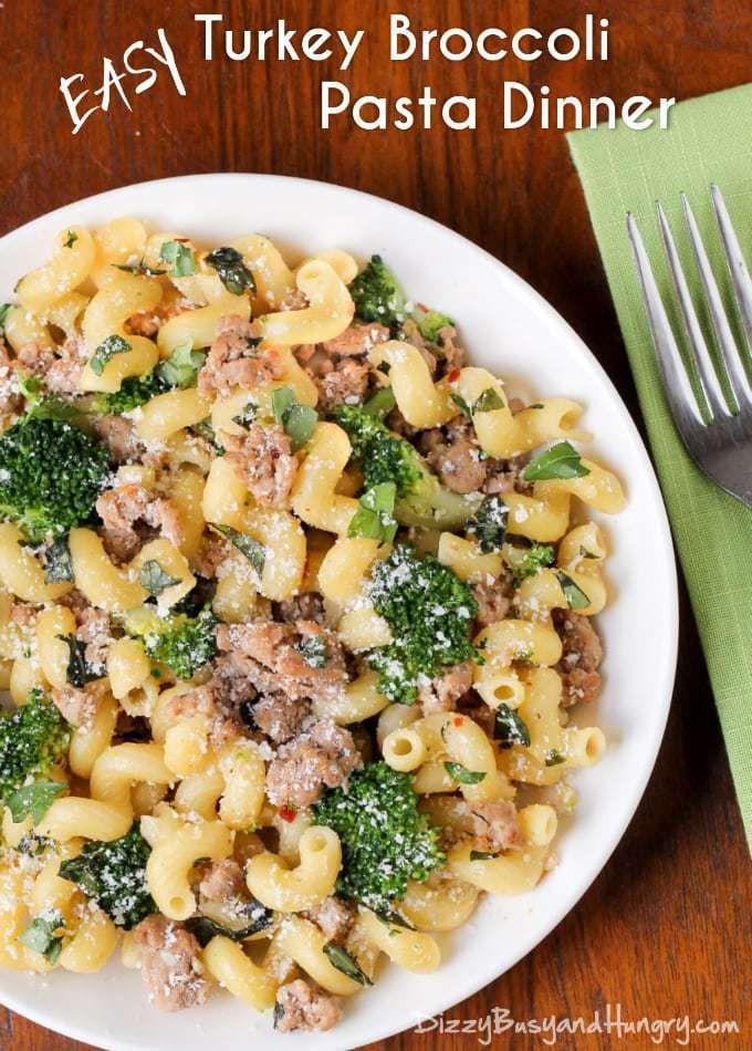 Simple Floor Turkey Broccoli Pasta Dinner