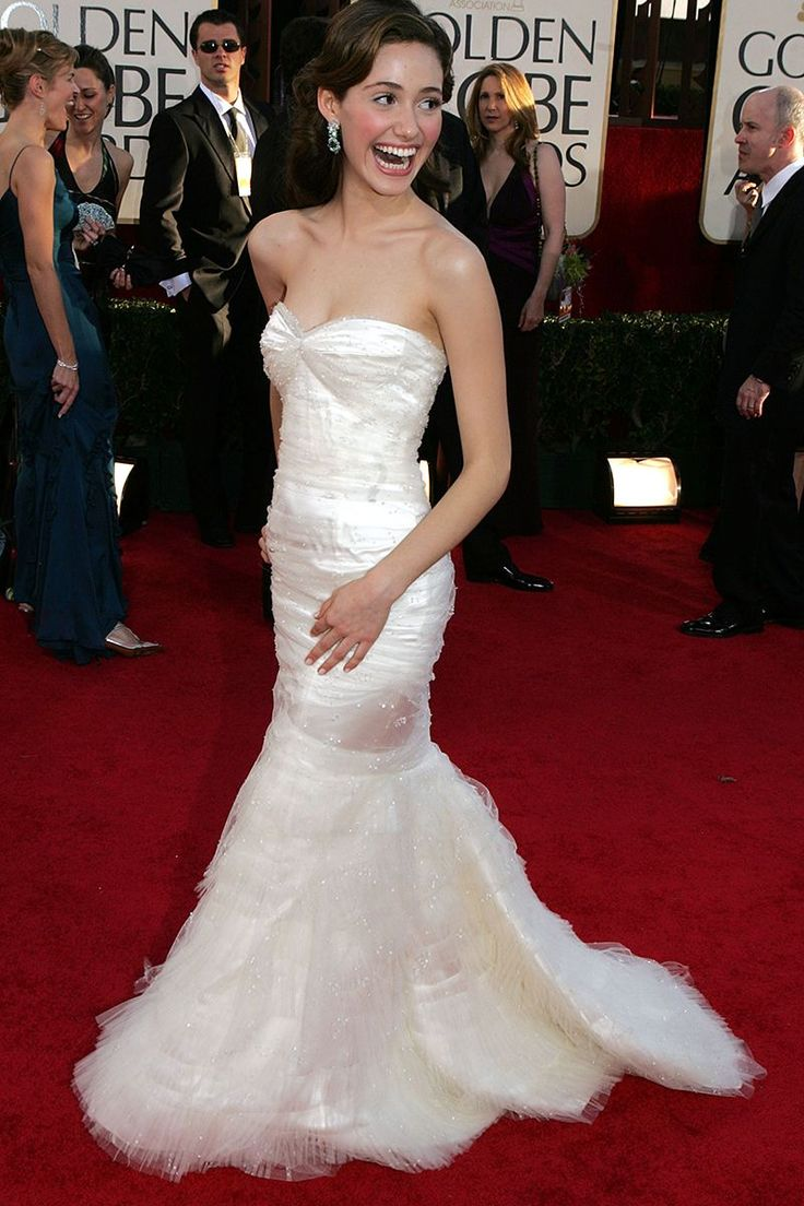 Emmy Rossum at the 62nd Annual Golden Globe Awards in 2005 - TownandCountrymag.com