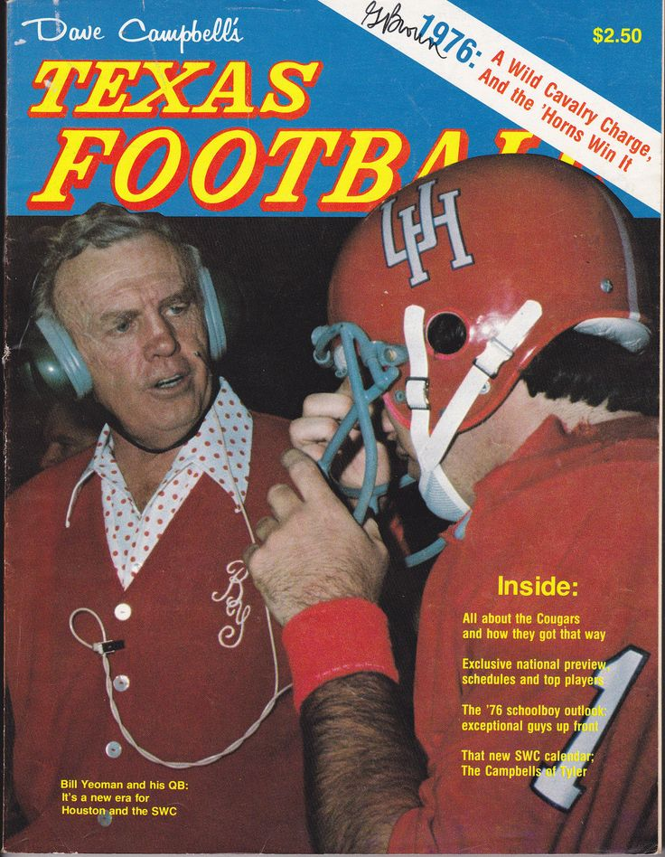 1976 Dave Campbell's Texas Football Magazine featuring