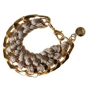 SNÖ Of Sweden - Picchu Big Bracelet Gold/Beige - 491-3190313