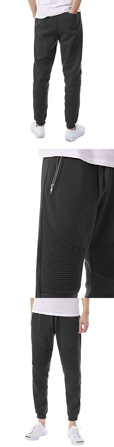 JD Apparel Mens Hipster Hip Hop Drawstring Sweatpants Joggers 3XL Charcoal