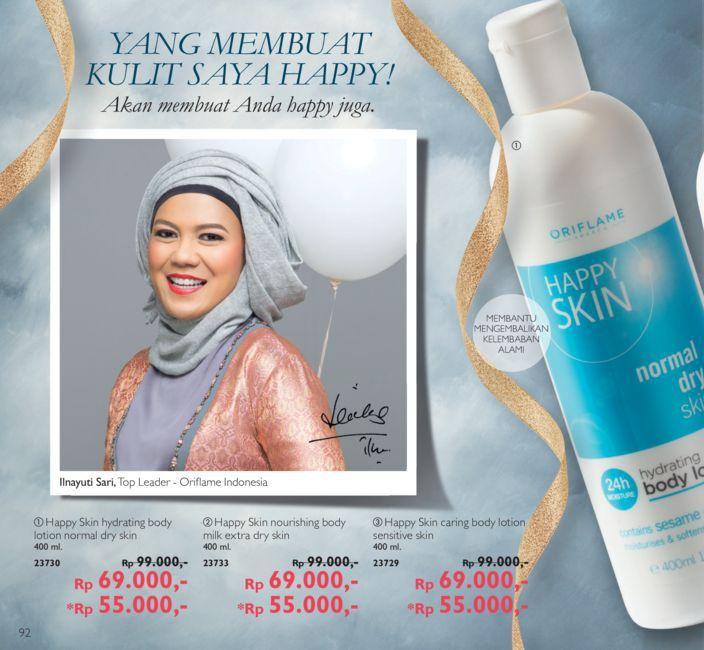Promo Harga Diskon Rangkaian Happy Skin  Body Lotion Katalog Oriflame September 2016