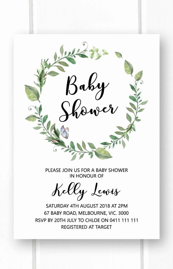 Neutral Baby Shower Invitations Unique Greenery Baby Shower Invitation Template Printab Baby Shower Invites Neutral Baby Shower Invitations Garden Baby Showers
