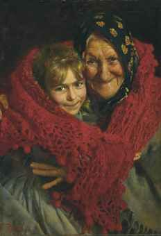 Gaetano Bellei:Grandmother and Child