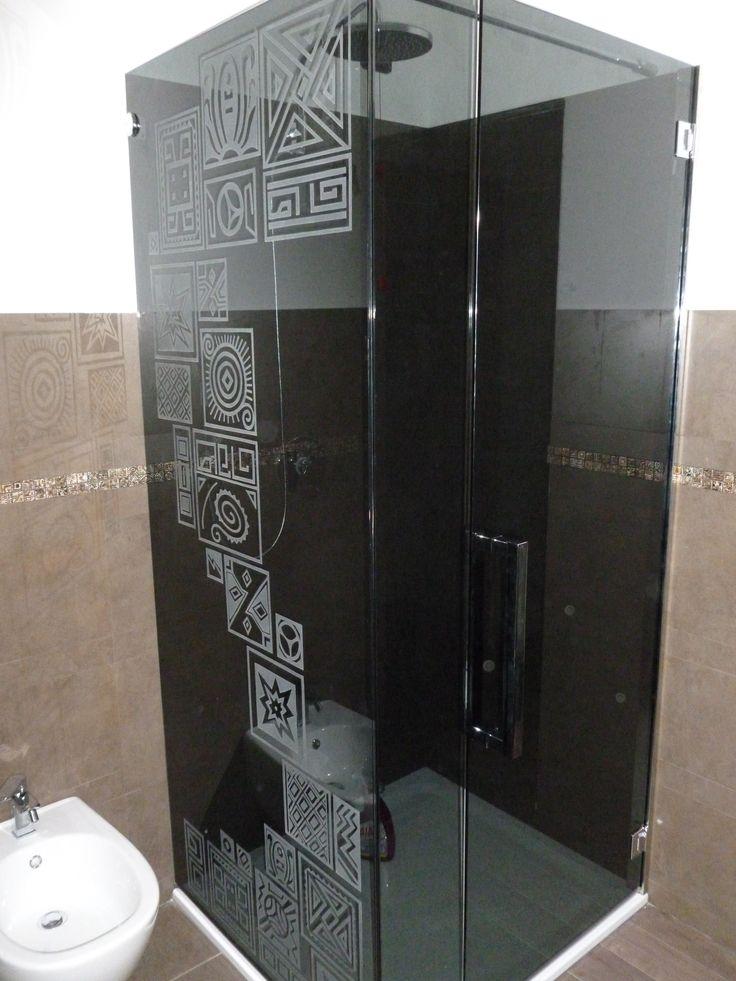 Box doccia personalizzato - tribal