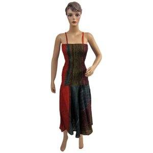 "Women Boho Bohemian Cotton Tie Dye Stripes Printed Spaghetti Smocked Waist Maxi Dress 48"" (Apparel)  http://www.amazon.com/dp/B0086SYZCC/?tag=guimagtab-20  B0086SYZCC"