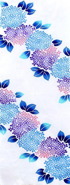 【三勝】手ぬぐい四季の花「紫陽花(あじさい)」~6月~