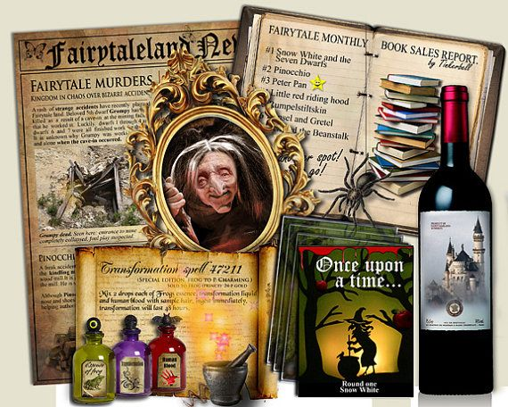 Fairy Tale Party Game murder mystery ONCE by MurderMysteryGames