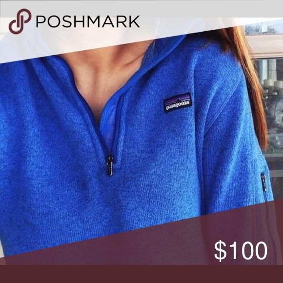 *ISO* not for sale. Looking for this deep cobalt blue better sweater form Patagonia. Very difficult to come by and it is literally my dream to find, let me know if you have one and are willing to sell!! Patagonia Sweaters