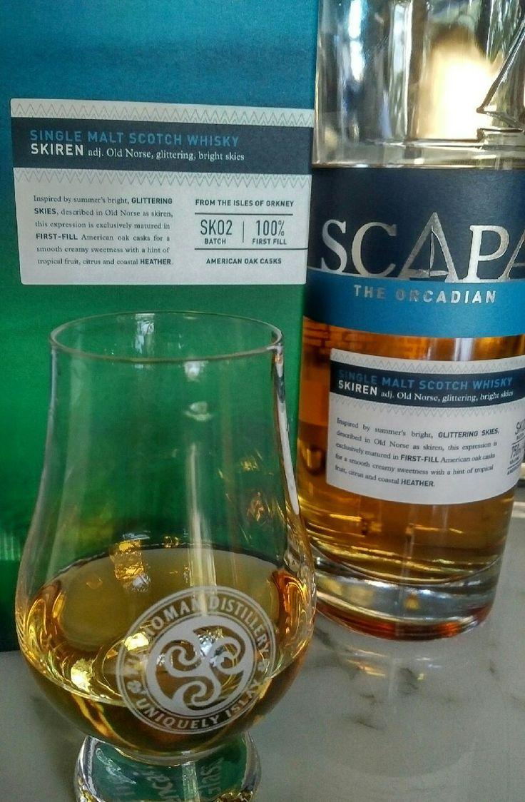 Review #9: Scapa Skiren #scotch #whisky #whiskey #malt #singlemalt #Scotland #cigars