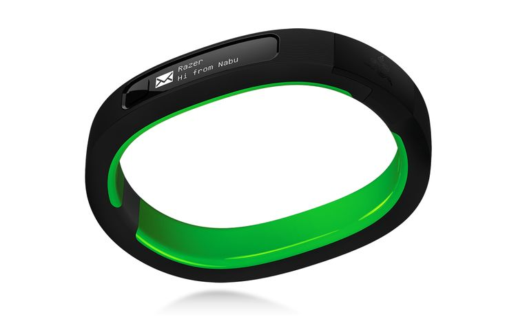 Razer Nabu smartband The Nabu is a slim wristband with a black-and-white OLED display that sits on the underside of the wrist. It connects over Bluetooth to iPhones (iPhone 5 or higher) and Android phones (version 4.3 or higher), and will vibrate when users receive notifications. It's meant to be more discreet than a smartwatch, as the screen only turns on when users twist their wrists upward to see the incoming notification.