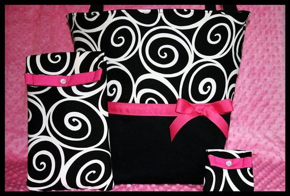 Personalized Baby Girl Diaper Bag With Wipes by LittleMisterSister, $67.99