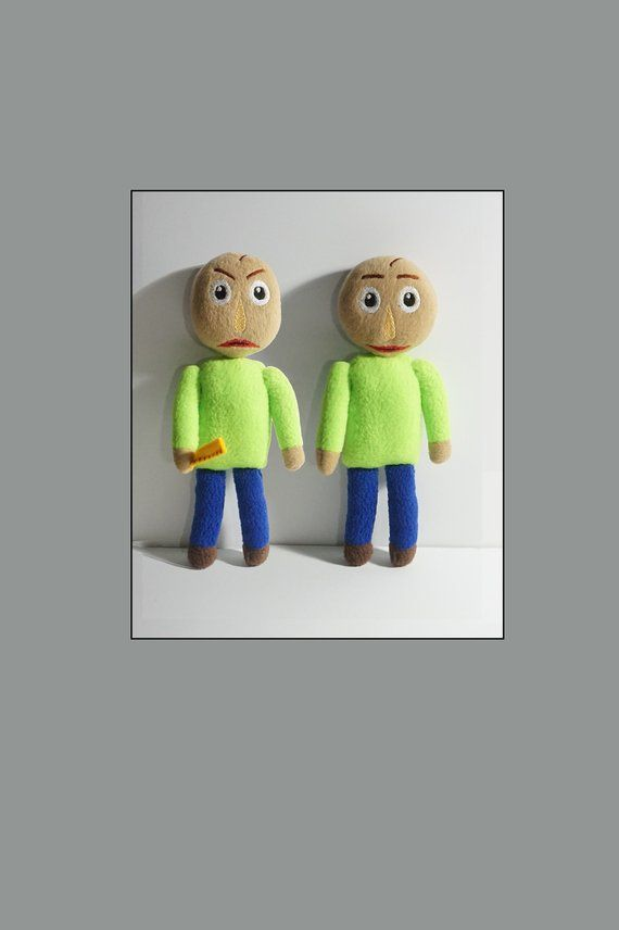Baldi S Basics In Education And Learning Inspired Plush Unofficial Math Horror Game Markiplier Baldi Plush With Images Horror Game Education Plush