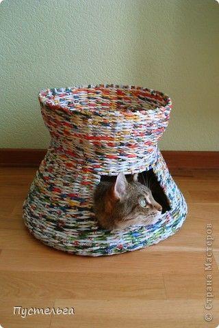 МК как сделать домик для кошки