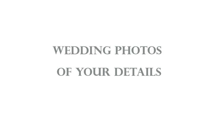 Getting ready for your wedding detail photos