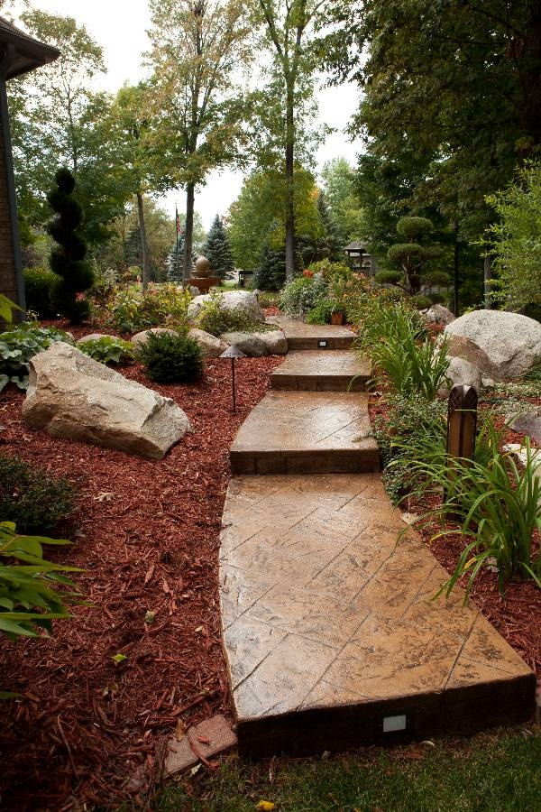 Stamped concrete pathway--completed in Flushing, Michigan
