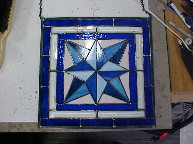 Glass Compass Rose Patterns : My first stained glass panel a mariner s compass quilt