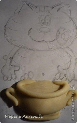 Картина панно рисунок Лепка Мусик-пусик Тесто соленое фото 3