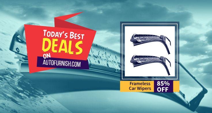 Today's Best Deal on #Autofurnish! 85% OFF on #Frameless Car #Wiper #Blades Shop Now @ http://www.autofurnish.com/wiper-blades