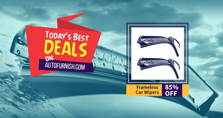 Today's Best Deal on #Autofurnish! 85% OFF on #Frameless Car #Wiper #Blades Shop Now @ http://www.autofurnish.com/wiper-blades