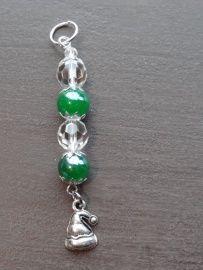 Groene kerstkristal muts nr 15