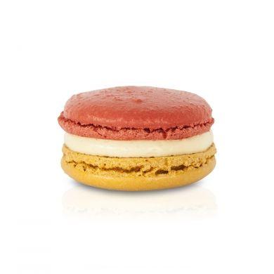 Peanut Butter & Jam Macaron. A peanut butter buttercream, with a centre of raspberry jam