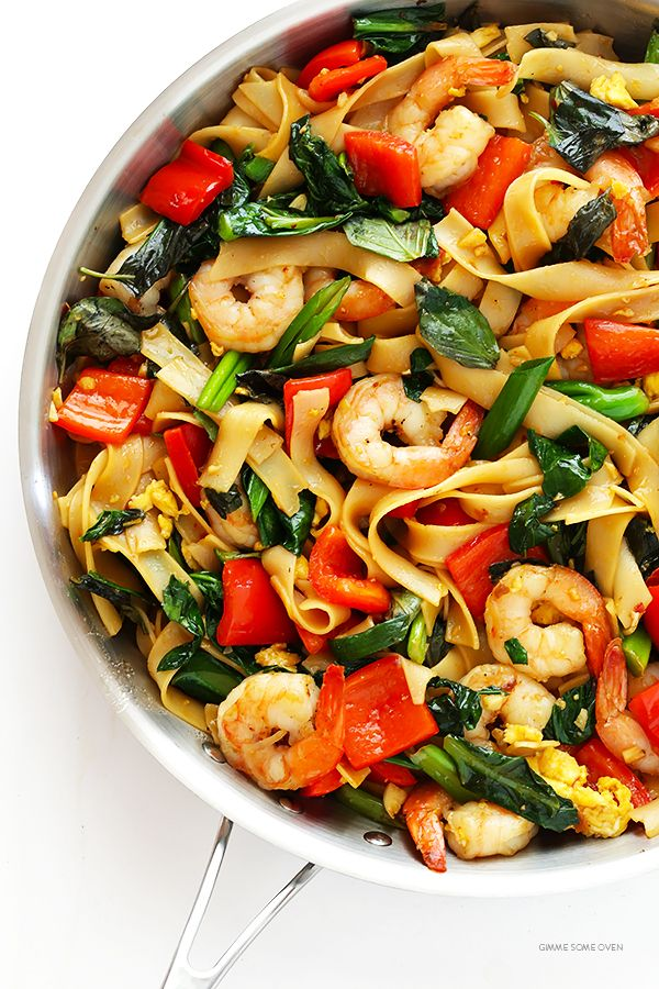 Drunken Noodles Recipe (Pad Kee Mao) -- this classic Thai dish is surprisingly quick and easy to make homemade! | gimmesomeoven.com