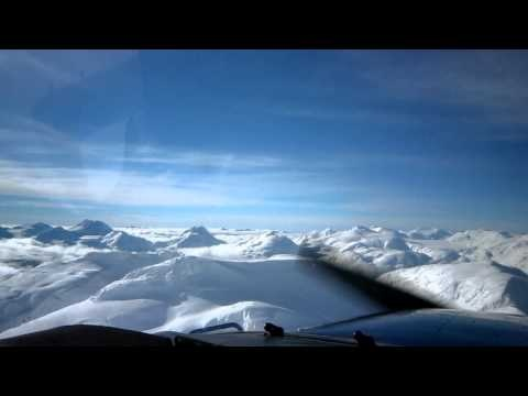 Flying with Glacier Air - Misty Ice Fields - British Columbia