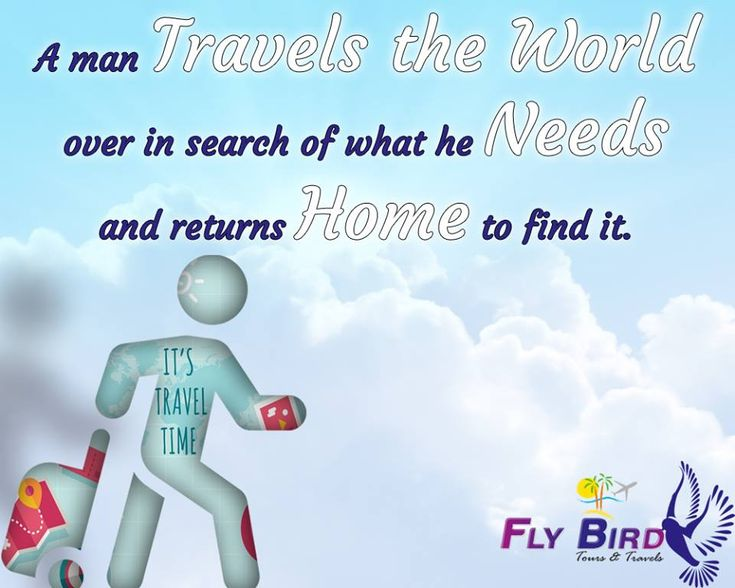 A man travels the world over in search of what he needs and returns home to find it. #travel #world #service #flyBird
