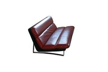 Vintage Kho Liang Le Design Bank C 683 Artifort Rood Leer