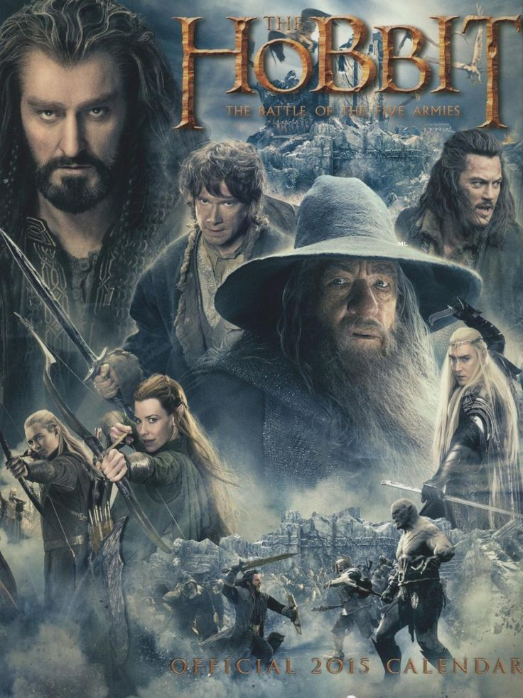 The Hobbit: The Battle Of The Five Armies official 2015 calendar