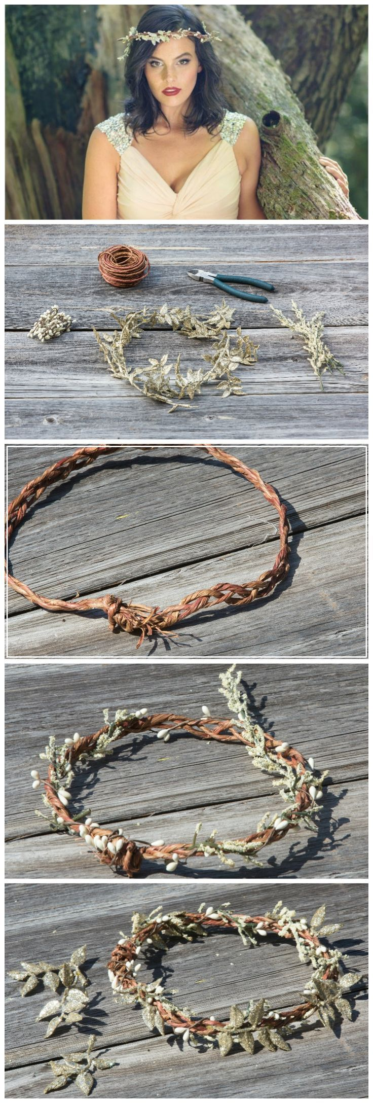 Swap your floral headband for its fall counterpart with this darling DIY fairy crown!