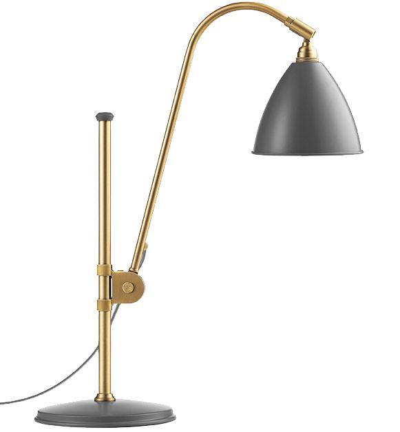GUBI // Bestlite BL1 Table Lamp in grey/brass