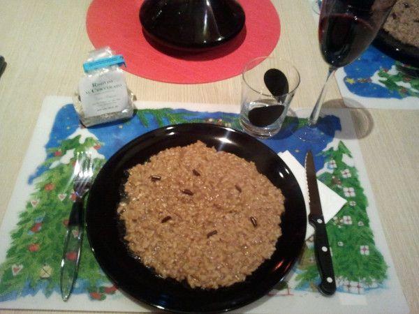 Cenetta pre natalizia con un gustoso dono #risotto al #cioccolato Grazie @traveltotaste #atavolaconlatitudes