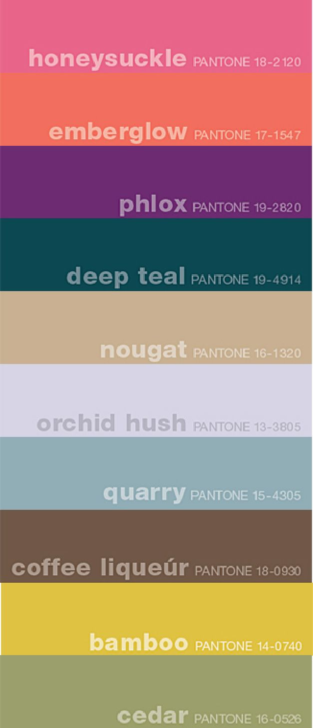 Color 2014 freesia on pinterest pantone yellow and pantone colours - Fall 2011 Pantone Colors These Are Pretty Perfect