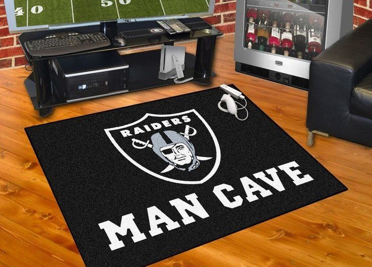 Customize any room in your house or office and show your team pride with this Oakland Raiders Man Cave All-Star by Fanmats. Put this mat in any room in your home to let your loved ones and guest know
