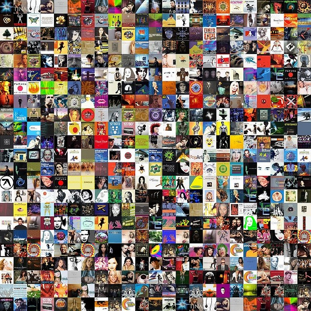 CD cover art collage