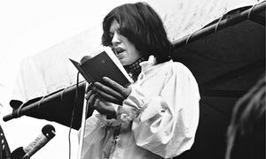 Mick Jagger reads Shelley in Hyde Park